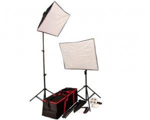 Autocue 3-Head Softbox Lighting Kit